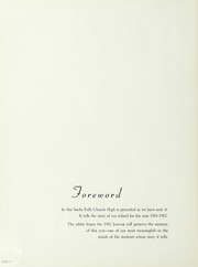 Page 8, 1962 Edition, Falls Church High School - Jaguar Yearbook (Falls Church, VA) online yearbook collection