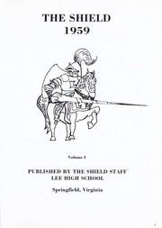 Page 5, 1959 Edition, Lee High School - Shield Yearbook (Springfield, VA) online yearbook collection