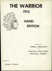 Page 5, 1952 Edition, Troutville High School - Warrior Yearbook (Troutville, VA) online yearbook collection
