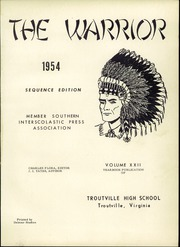Page 5, 1954 Edition, Troutville High School - Warrior Yearbook (Troutville, VA) online yearbook collection