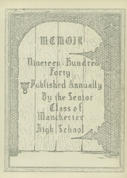 Page 7, 1940 Edition, Manchester High School - Memoir Yearbook (Richmond, VA) online yearbook collection