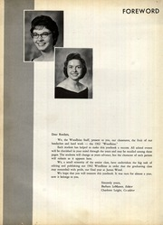 Page 6, 1962 Edition, James Wood High School - Woodbine Yearbook (Winchester, VA) online yearbook collection
