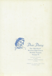 Page 5, 1950 Edition, Norview High School - Pilot Yearbook (Norfolk, VA) online yearbook collection