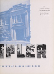 Page 7, 1951 Edition, Fairfax High School - Fare Fac Sampler Yearbook (Fairfax, VA) online yearbook collection