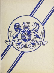 1954 Edition, Fairfax High School - Fare Fac Sampler Yearbook (Fairfax, VA)
