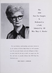 Page 11, 1959 Edition, Fairfax High School - Fare Fac Sampler Yearbook (Fairfax, VA) online yearbook collection