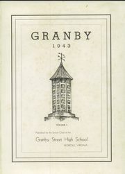 Page 5, 1943 Edition, Granby High School - Yearbook (Norfolk, VA) online yearbook collection