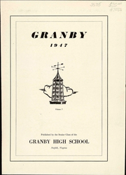Page 5, 1947 Edition, Granby High School - Yearbook (Norfolk, VA) online yearbook collection