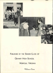 Page 8, 1951 Edition, Granby High School - Yearbook (Norfolk, VA) online yearbook collection
