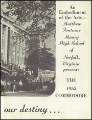 Page 7, 1955 Edition, Maury High School - Commodore Yearbook (Norfolk, VA) online yearbook collection
