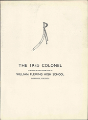Page 9, 1945 Edition, William Fleming High School - Colonel Yearbook (Roanoke, VA) online yearbook collection
