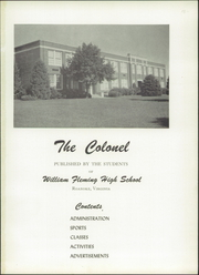 Page 5, 1953 Edition, William Fleming High School - Colonel Yearbook (Roanoke, VA) online yearbook collection