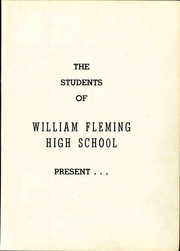 Page 9, 1957 Edition, William Fleming High School - Colonel Yearbook (Roanoke, VA) online yearbook collection