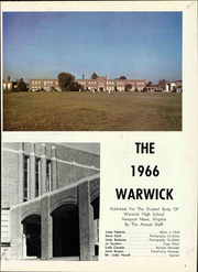 Page 5, 1966 Edition, Warwick High School - Yearbook (Newport News, VA) online yearbook collection