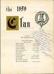 Page 5, 1959 Edition, McLean High School - Clan Yearbook (McLean, VA) online yearbook collection