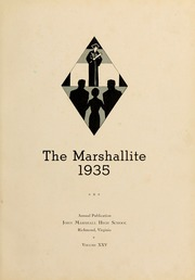 Page 11, 1935 Edition, John Marshall High School - Marshallite Yearbook (Richmond, VA) online yearbook collection