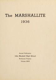 Page 9, 1936 Edition, John Marshall High School - Marshallite Yearbook (Richmond, VA) online yearbook collection