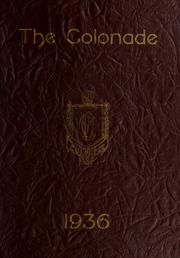 Culpeper County High School - Colonnade Yearbook (Culpeper, VA) online yearbook collection, 1936 Edition, Page 1