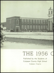 Page 6, 1956 Edition, Culpeper County High School - Colonnade Yearbook (Culpeper, VA) online yearbook collection