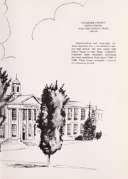 Page 7, 1968 Edition, Culpeper County High School - Colonnade Yearbook (Culpeper, VA) online yearbook collection