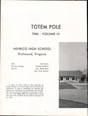 Page 6, 1966 Edition, Henrico High School - Saga Yearbook (Richmond, VA) online yearbook collection