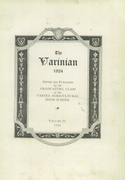 Page 7, 1924 Edition, Varina High School - Varinian Yearbook (Richmond, VA) online yearbook collection