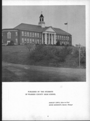 Page 4, 1951 Edition, Warren County High School - Mirror Yearbook (Front Royal, VA) online yearbook collection