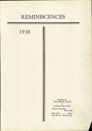 Page 7, 1938 Edition, Richlands High School - Reminiscences Yearbook (Richlands, VA) online yearbook collection