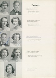 Page 35, 1952 Edition, William Byrd High School - Black Swan Yearbook (Vinton, VA) online yearbook collection