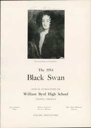 Page 5, 1954 Edition, William Byrd High School - Black Swan Yearbook (Vinton, VA) online yearbook collection