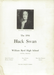 Page 7, 1956 Edition, William Byrd High School - Black Swan Yearbook (Vinton, VA) online yearbook collection