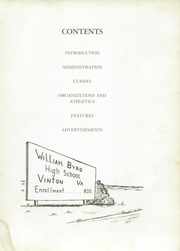 Page 9, 1956 Edition, William Byrd High School - Black Swan Yearbook (Vinton, VA) online yearbook collection