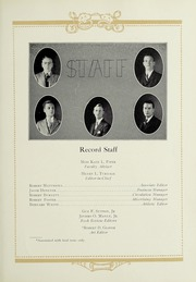 Page 11, 1931 Edition, Robert E Lee High School - Record Yearbook (Staunton, VA) online yearbook collection