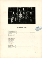 Page 8, 1940 Edition, Robert E Lee High School - Record Yearbook (Staunton, VA) online yearbook collection