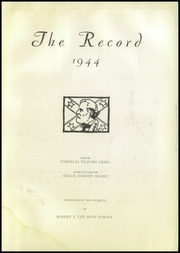 Page 5, 1944 Edition, Robert E Lee High School - Record Yearbook (Staunton, VA) online yearbook collection