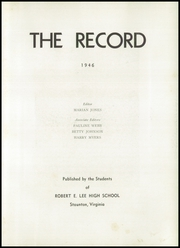 Page 7, 1946 Edition, Robert E Lee High School - Record Yearbook (Staunton, VA) online yearbook collection