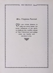 Page 10, 1930 Edition, Virginia High School - Virginian Yearbook (Bristol, VA) online yearbook collection