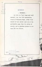 Page 8, 1933 Edition, Virginia High School - Virginian Yearbook (Bristol, VA) online yearbook collection