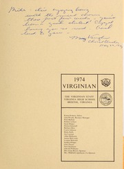 Page 3, 1974 Edition, Virginia High School - Virginian Yearbook (Bristol, VA) online yearbook collection