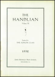 Page 11, 1932 Edition, Handley High School - Handlian Yearbook (Winchester, VA) online yearbook collection