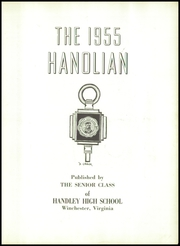 Page 7, 1955 Edition, Handley High School - Handlian Yearbook (Winchester, VA) online yearbook collection