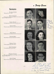 Page 15, 1947 Edition, Christiansburg High School - Demon Yearbook (Christiansburg, VA) online yearbook collection
