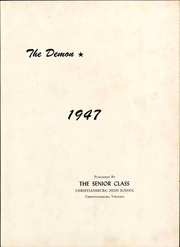Page 9, 1947 Edition, Christiansburg High School - Demon Yearbook (Christiansburg, VA) online yearbook collection