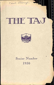Page 1, 1930 Edition, Harrisonburg High School - Taj Yearbook (Harrisonburg, VA) online yearbook collection