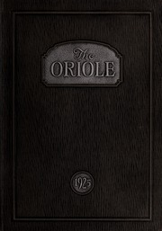 Pulaski High School - Oriole Yearbook (Pulaski, VA) online yearbook collection, 1925 Edition, Page 1