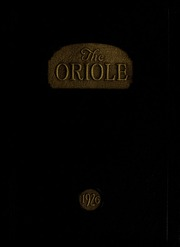 Pulaski High School - Oriole Yearbook (Pulaski, VA) online yearbook collection, 1926 Edition, Page 1