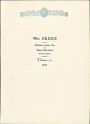 Page 11, 1932 Edition, Pulaski High School - Oriole Yearbook (Pulaski, VA) online yearbook collection
