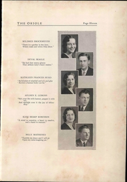 Page 15, 1933 Edition, Pulaski High School - Oriole Yearbook (Pulaski, VA) online yearbook collection
