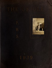 Pulaski High School - Oriole Yearbook (Pulaski, VA) online yearbook collection, 1939 Edition, Page 1