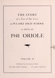 Page 11, 1941 Edition, Pulaski High School - Oriole Yearbook (Pulaski, VA) online yearbook collection